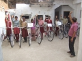 Distribution of the schoolbikes, January 2014|Uitreiking schoolfietsen, januari 2014