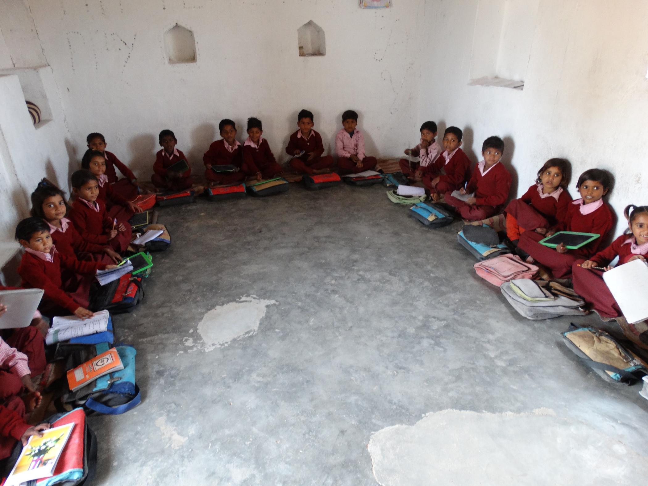 In de klas in Beniganj