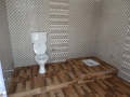 Het nieuwe toilet op de 1e verdieping