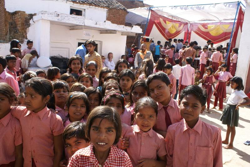 Op het schoolfeest: iedereen wil natuurljk ook op de foto