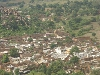 Het dorp Oud-Khajuraho vanuit de lucht