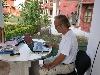 Voorzitter Rutger in India aan het werk